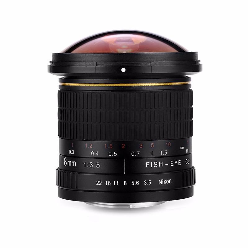 8mm F/3.5 Ultra Wide Angle Fisheye Lens for Nikon DSLR Cameras D3100 D30 D50 D5500 D7000 D70 D800 D700 D90 7