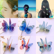 Fashion butterfly design hairpin colorful cartoon hair clip for little girls hairgrips  barrettes wedding party accessories