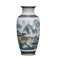 Chinese Style Vintage Jingdezhen Ceramic Vase Home Decoration Porcelain Flower Vase