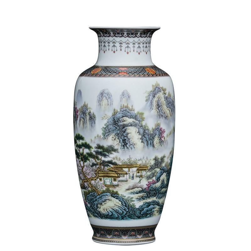 Ev ve Bahçe'ten Vazolar'de Çin Tarzı Vintage Jingdezhen Seramik vazo ev dekorasyon porselen çiçek vazosu'da  Grup 1