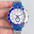 Роскошные часы мужские AAA 44 мм автоматические синие керамические Безель мужские часы из нержавеющей стали наручные часы яхты многофункцион...