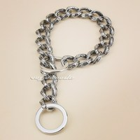 12 30 17mm Width Solid 316L Stainless Steel Luxury Dog Chains Dog Necklace 5C016DC Free Shipping