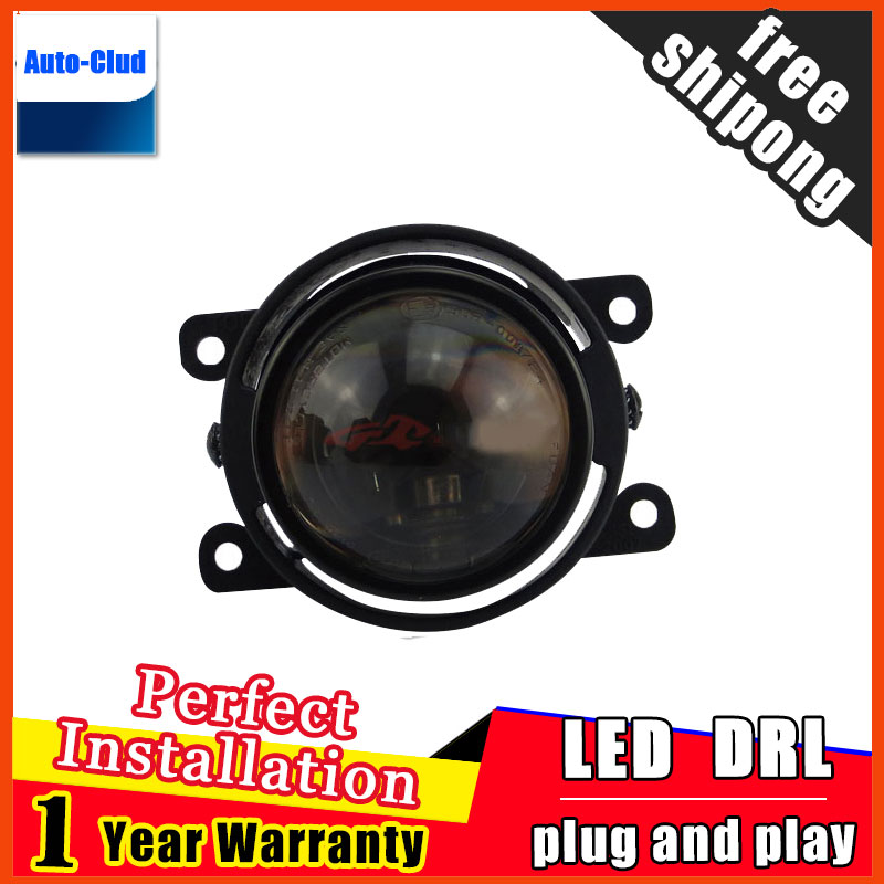 Car Styling HID Double light lens fog lamp for Peugeo 207 2008-2014 E-MARK & DOT Authentication for foglight 2 function