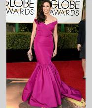 73rd Golden Globe Award 2016 MichaelaWatkins Roter Teppich-berühmtheit Kleider Rose Red Mermaid Abendkleider Frauen Abendkleider