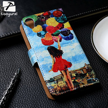 TAOYUNXI Flip Phone Cover Case For HTC Desire 626 650 D650 628 A32 626w 626D 626G 626S 5.0 inch Case Painted PU Leather Cover