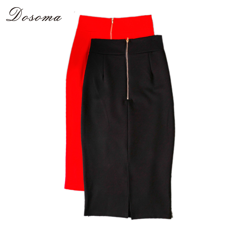 Ladies Black Pencil Skirt