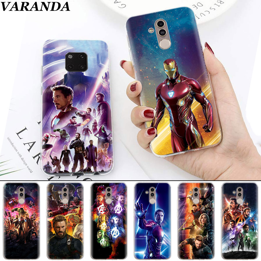 avengers infinity war Soft Cases for Huawei Mate 10 20 Pro Mate 20 Lite P20 P30 Lite P Smart Plus Case Coque
