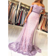 H&S BRIDAL Elegant Light purple Mermaid Prom dresses Long