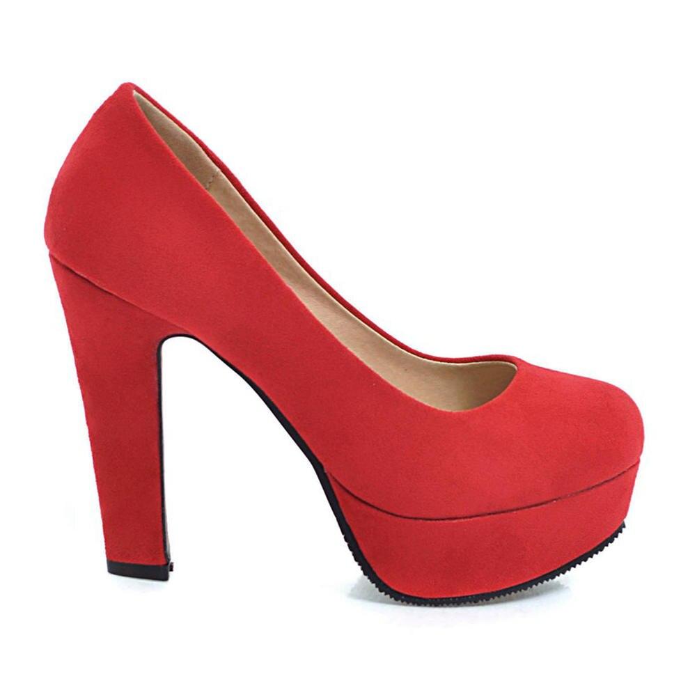 donne 32 Solid Autunno 2019 Pompe cuneo rosa dimensioni alti di calza 43 Nuova rosso grigio Primavera di su Doratasia grandi nero Beige quadrati O0ZqtZ