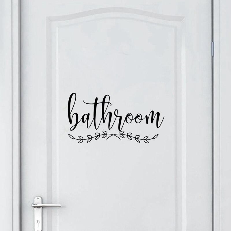Bathroom Vinyl Art Door Sticker Home Business Decor