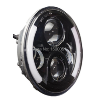 Automobiles Motorcycles Halo Ring 7Inch LED Headlight With White Or Blue Auto DRL DOT Approved For
