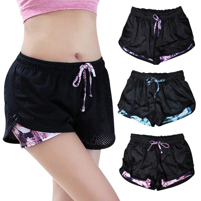 ①  Спортивные шорты для йоги для женщин 2 в 1 Спортивные шорты для женщин Крутые женские спортивные шор ①