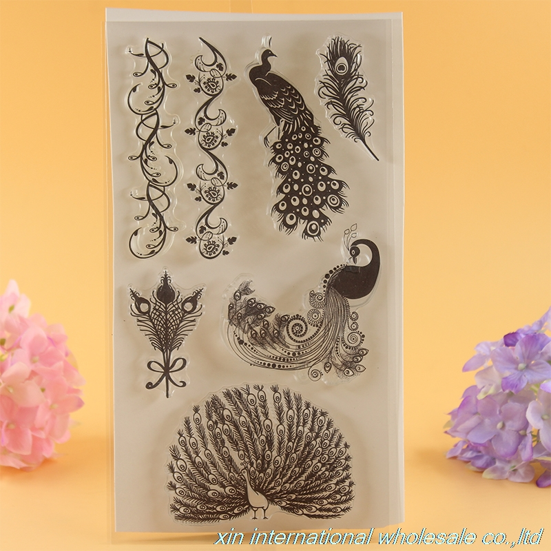 2pcs scrapbooking DIY Butterflies and peacocks stamp clear stamps ACRYLIC VINTAGE stamps for scrapbooking цены онлайн