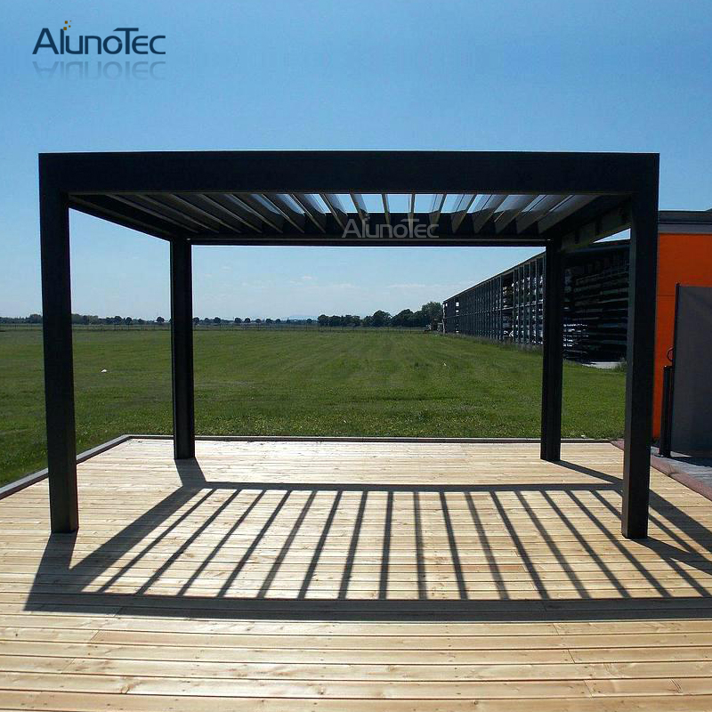 Electric Aluminum Gazebo Pergola Opening Louvre Roof Systems 4m X