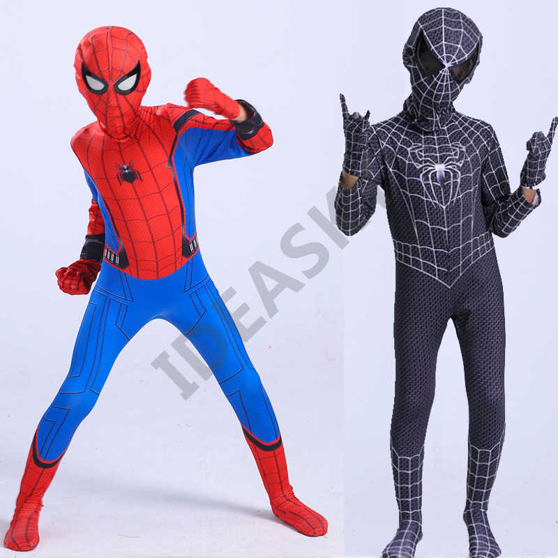 halloween costume for kids red black spiderman costume spider man suit men the amazing spiderman adult spider-man homecoming kid