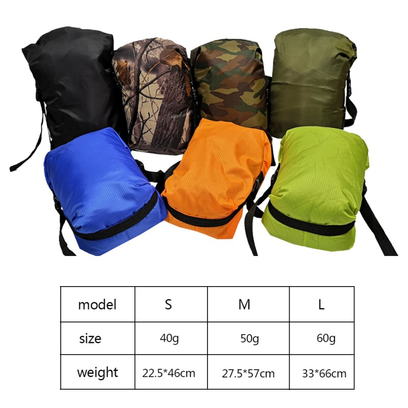 Waterproof Bag Outdoor Trekking Storage Upstream package Large Capacity Stuff Sack Portable Lightweight Storage Carry Bag