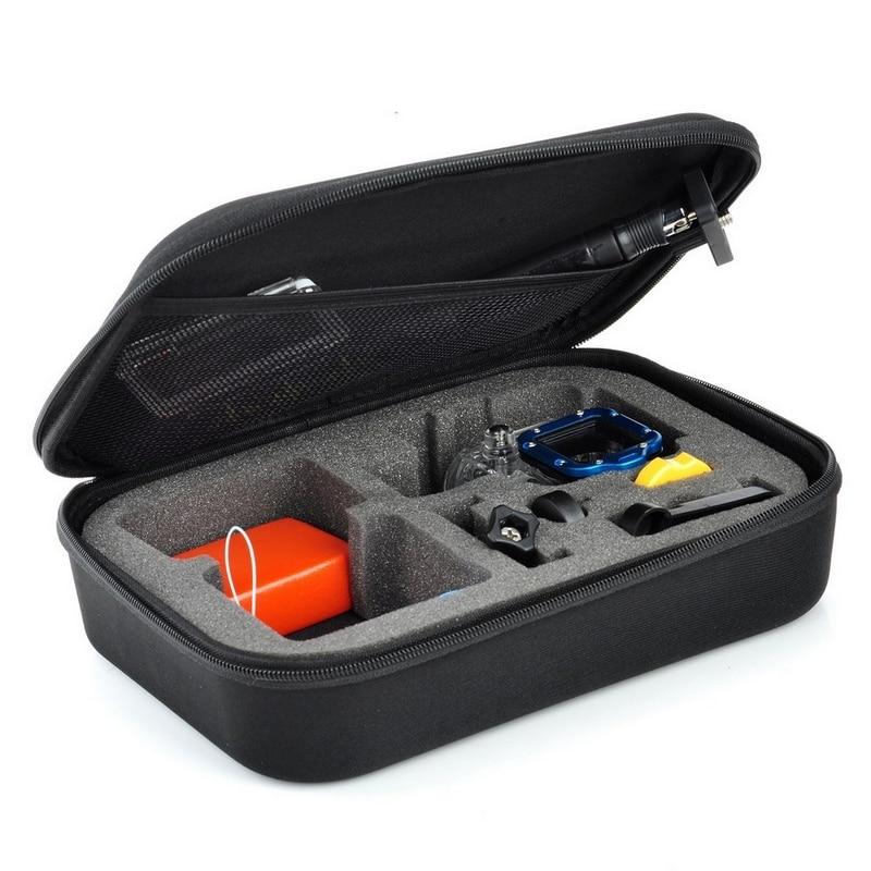 Negro para Gopro caso impermeable protectora de EVA bolsa de caja de almacenamiento para ir Pro Hero 5 4 3 3 + 2 1 SJCAM SJ4000 SJ5000 SJ6000