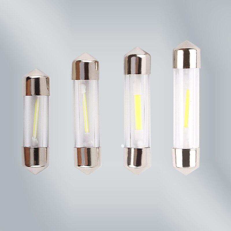 цены на C5W COB Led Car Interior Bulbs 31mm 36mm 39mm 41mm Glass Lens Festoon Dome Reading Light Source 12V White Double Tip Lamp D040 в интернет-магазинах