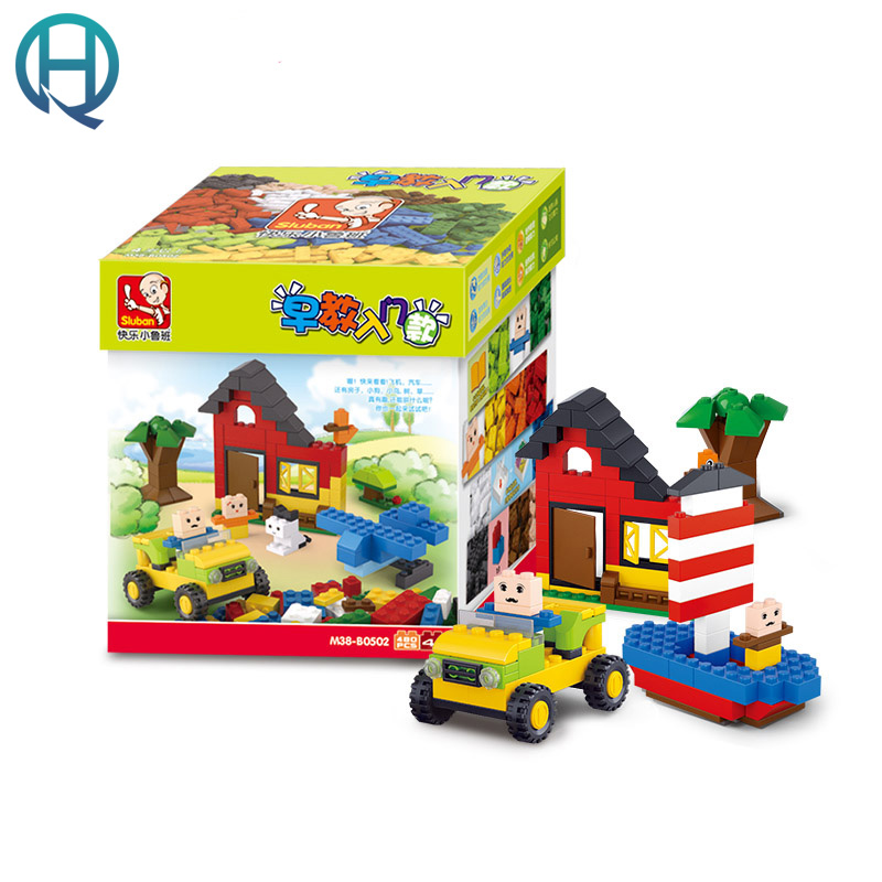 Sluban DIY Construction  Classic Creative Building Blocks Bricks Game Educational Bricks Birthday Gift Toys for Children Kids 2016 new sluban 0502 building blocks 415pcs diy creative bricks toys for children educational bricks brinquedos legeod