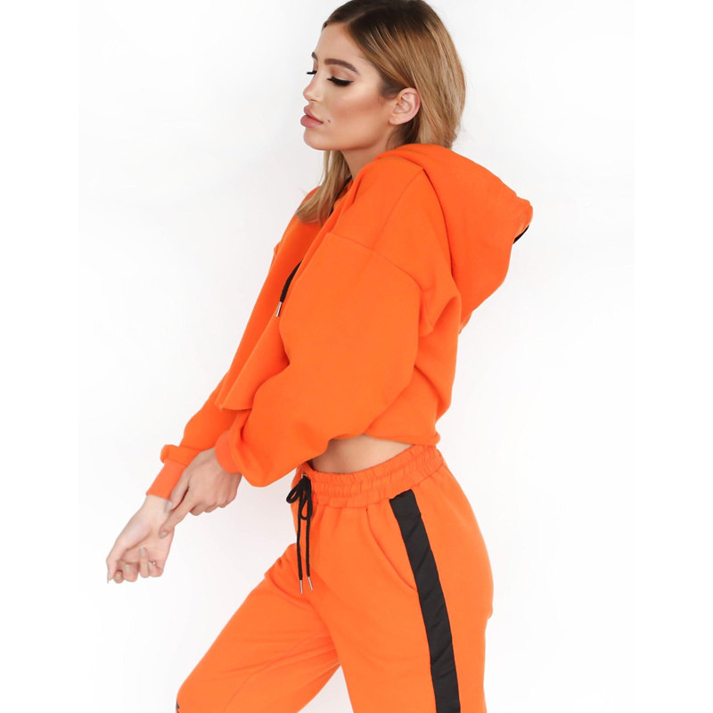 Brand New 2 Piece Set Women Hoodies Pant Clothing Set Warm Newest Clothes Ladies Solid Tracksuit Women Set Top Pants Suit Female