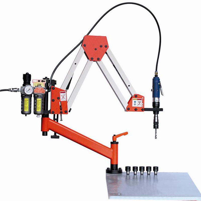 CE 1900mm 6-M24 Vertical Type Pneumatic Tapping Machine Automatic Pneumatic Drilling Machine Air Tapper Tool With Working Reach