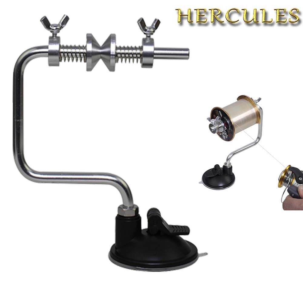 Hercules Portable Aluminum Fishing Line Spooler Fish Reel Winder System Tackle Tool Suction Cup Sea Carp Fishing Accessories