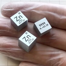 лучшая цена Zinc Metal Zn 10mm Density Cube 99.99% Pure for Element Collection