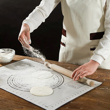 40*60cm Platinum Silicone Mat Dough Chopping Board With Scale Large Non-slip Kitchen Bakeware Pasta Making Tool