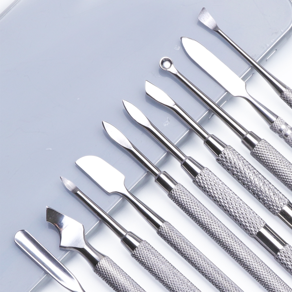Image 3 - 1pcs Dual end Stainless Steel Nail Cuticle Pusher Spoon Remover Trimmer Dead Skin Manicure Pedicure Cleaner Nail Tool JI34 43-in Cuticle Pushers from Beauty & Health