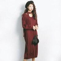2018 Autumn New Sweater Korean Elasticity Was Thin Round Collar Slim Shirt Female A997