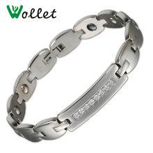 Wollet ювелирные изделия магнитный браслет из нержавеющей стали