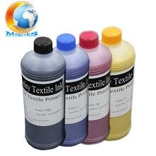 BK C M Y 500ML 4 color DTG ink for Epson R280 R290 R330 L800 L801 1390 1400 1410 DX5 DX7 F2000 flatbed printer textile ink