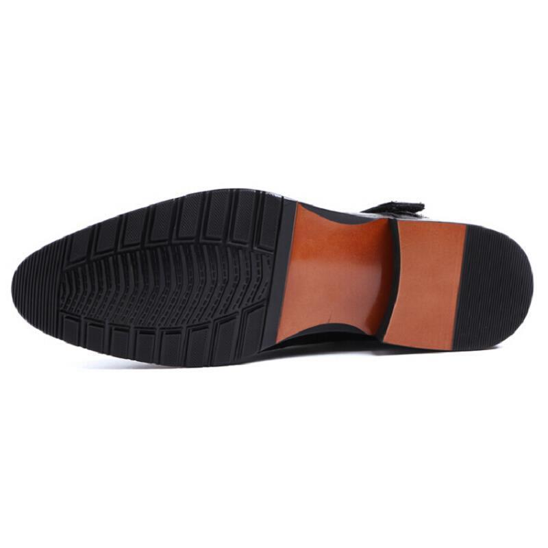 Homens Couro Botas Preto Do Homem Northmarch Ankle Pé High Dos Se Rivet Top Vestem Rodada Crocodilo Dedo Calçado Boots Militar Sapatos Cowboy De qrBUpxwqt
