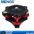 "MENGS LP-64 Precision Leveling Base Tripod Head Plate With 3/8"" Mounting Screw 3 Adjustment Dials For Camera Tripod(14110003401)"