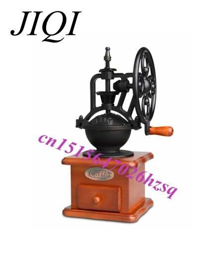 JIQI Manual coffee grinders  Retro Shake wheel Coffee beans Grinding machine Household Coffee Mill decoration also ботинки grinders stag киев