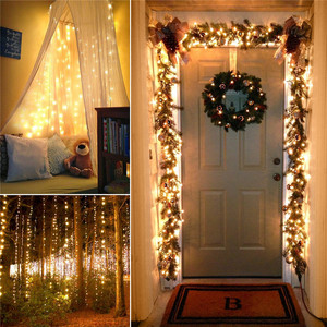 Image 4 - 72ft 22M 200 LED Solar Strip Light Home Garden Copper Wire Light String Fairy Outdoor Solar Powered Christmas Party Decor