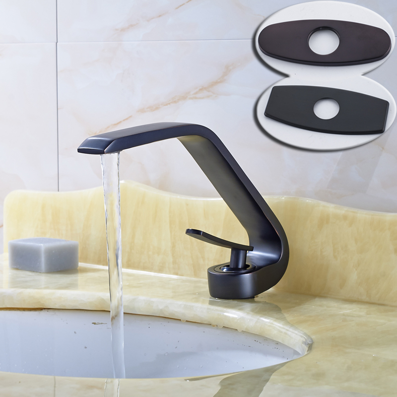 Oil Rubbed Bronze Centerset Bathroom Vessel Sink Faucet Single Lever with Hot and Cold Water Black Washing Basin Mixer Taps allen roth brinkley handsome oil rubbed bronze metal toothbrush holder