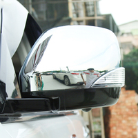 For NIssan Patrol Armada Y62 2017 2018 ABS Chrome and Carbon fibre Car rearview mirror cover Cover Trim Car styling accessories
