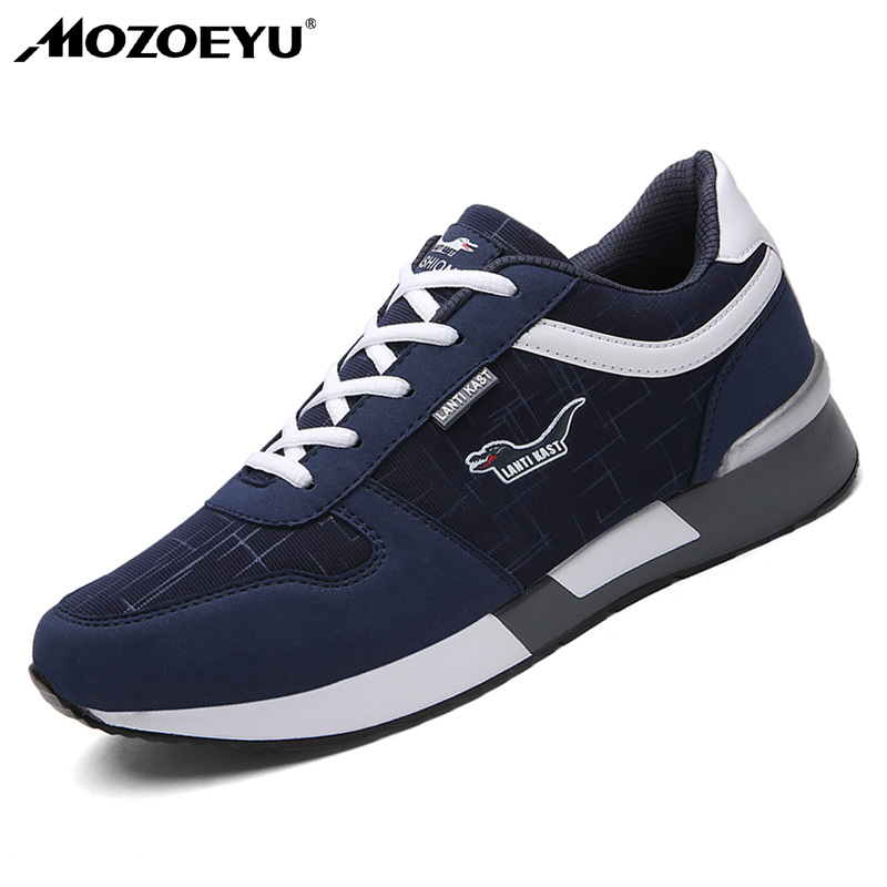MOZOEYU Men Running Shoes Spring Autumn Breathable Sport Shoes Comfortable Sneakers Shoes for Men Light Walking shoes Plus Size peak sport men outdoor bas basketball shoes medium cut breathable comfortable revolve tech sneakers athletic training boots