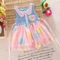 Принцесса платье ребенка платье для девочки одежды летний стиль девушки ну вечеринку пасха платья детская одежда