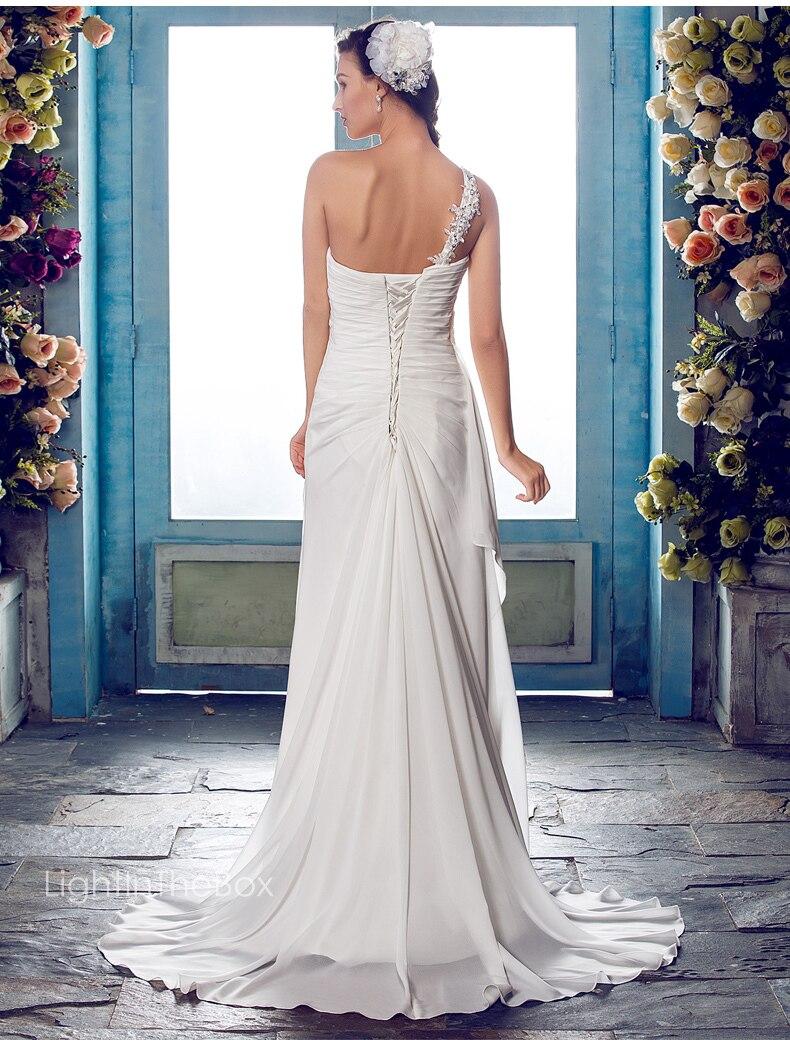 free shipping bridal gown bride robe de soiree vestido de noiva 2018 new hot concise long one shoulder Cheap   bridesmaid     dresses