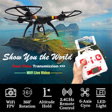 Syma X8W RC Quadcopter 2.4G 6-Axis Gyro FPV Video Drone with 0.3MP Camera Aeromodelo Rc Plane Children Gift Black White