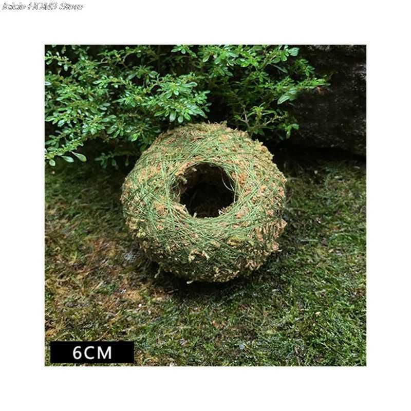 Bola musgo Musgo Bonsai Personalizado Vaso de Flores Ninho de Pássaro Flor Planta Mesa Mesa Jardim Decoração DIY Plantpot