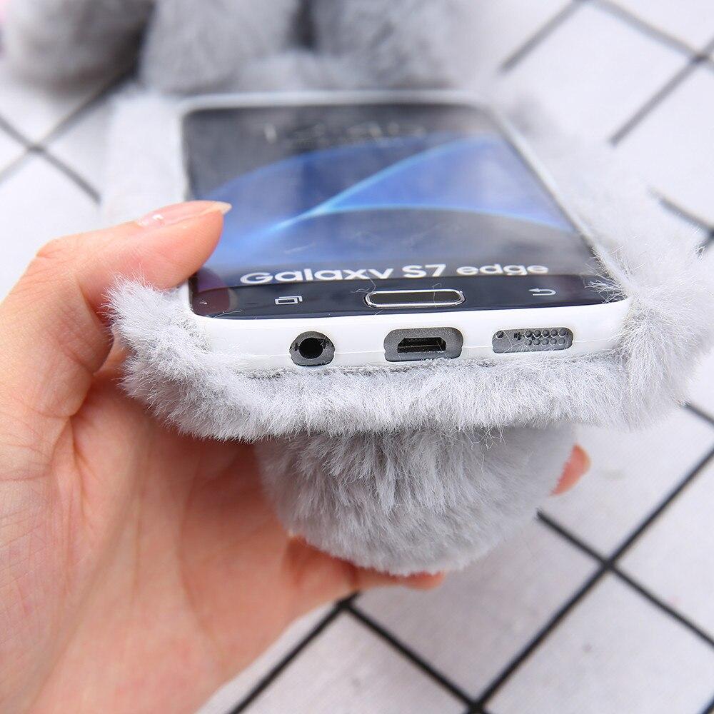 fluffy samsung s9 plus case