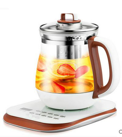 Electric kettle health raising pot fully automatic thickened glass multi-function electric heating black tea Overheat Protection health raising pot fully automatic thickened glass multi function tea ware mini body electric heating kettle ware