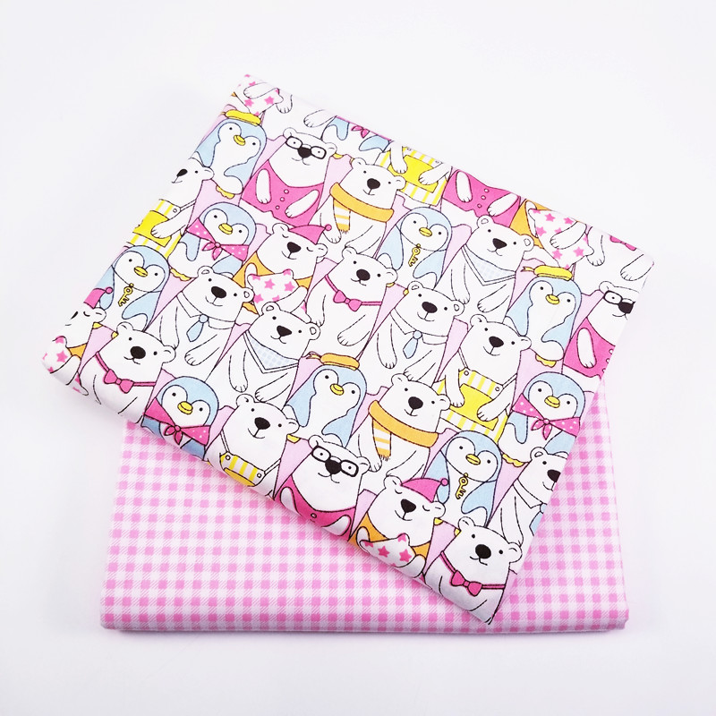 50*160cm Cartoon Patchwork Twill Cotton Fabric For Tissue Kid Bedding Home Textile For Sewing Cushions Tablecloth Pillow Craft