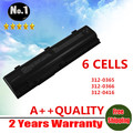 WHOLESALE New 6 cells laptop battery for dell Inspiron 1300 B120  B130 120L 312-0416  HD438  KD186 XD187 free shipping