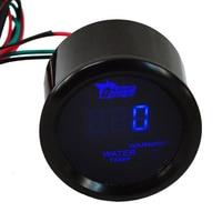 2 52mm Black Car Motor Digital Blue LED Water Temp Temperature LED Gauge Meter