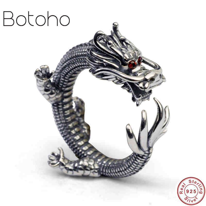 925 sterling silver Ring fashion jewelry 2018 Dragon Ring Vintage Men's 925 Thai Silver Ring Men's Jewelry Jewelry charms ring ring luisa vannini jewelry ring