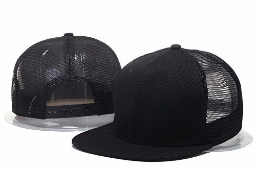 4297553108e ... shopping blank trucker cap all black 6 panel snapback hat plain blank  curve bill snapback mesh ...